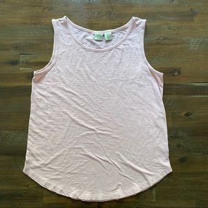 3/$15 Lucy & Laurel blush pink loose fit tank top